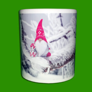 Beli foto lonček - Print Mug - škrat - skodelica s sliko