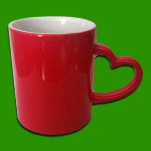 Rdeči čarobni foto lonček za zaljubljene - valentinovo - Magic Print Mug