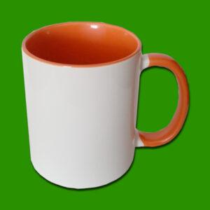 Oranžna dvobarvna foto skodelica
