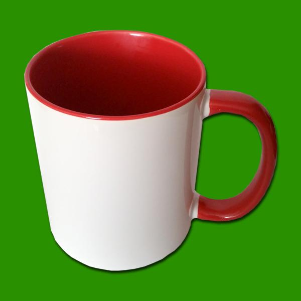 Rdeča dvobarvna foto skodelica - print mug