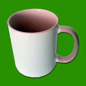 Roza dvobarvna foto skodelica