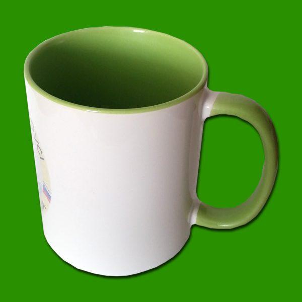 Zelena dvobarvna foto skodelica - print mug