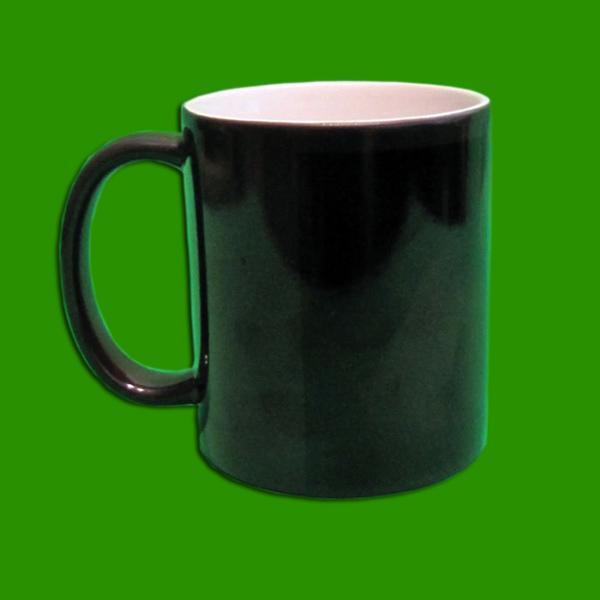 Črni čarobni lonček za tisk - Magic Print Mug