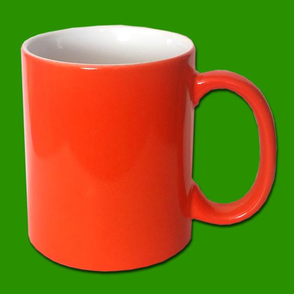 Oranžna čarobna skodelica za tisk - Magic Print Mug