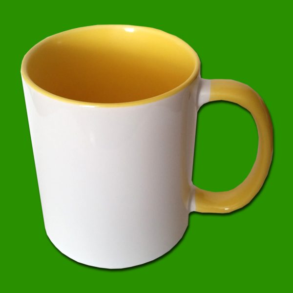 Rumena dvobarvna foto skodelica
