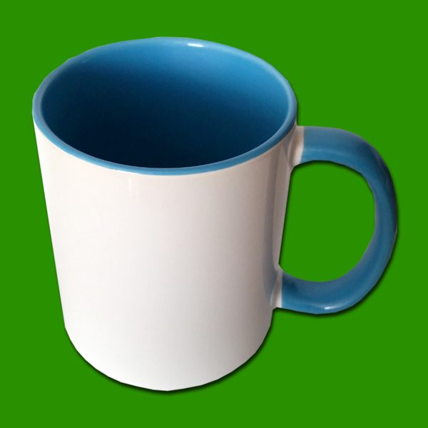 Modra dvobarvna foto skodelica - print mug