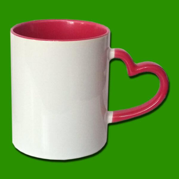 Rdeča dvobarvna skodelica za zaljubljene