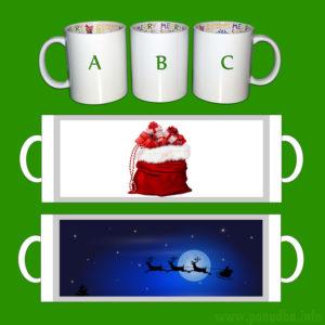 Skodelica za darilo - božič